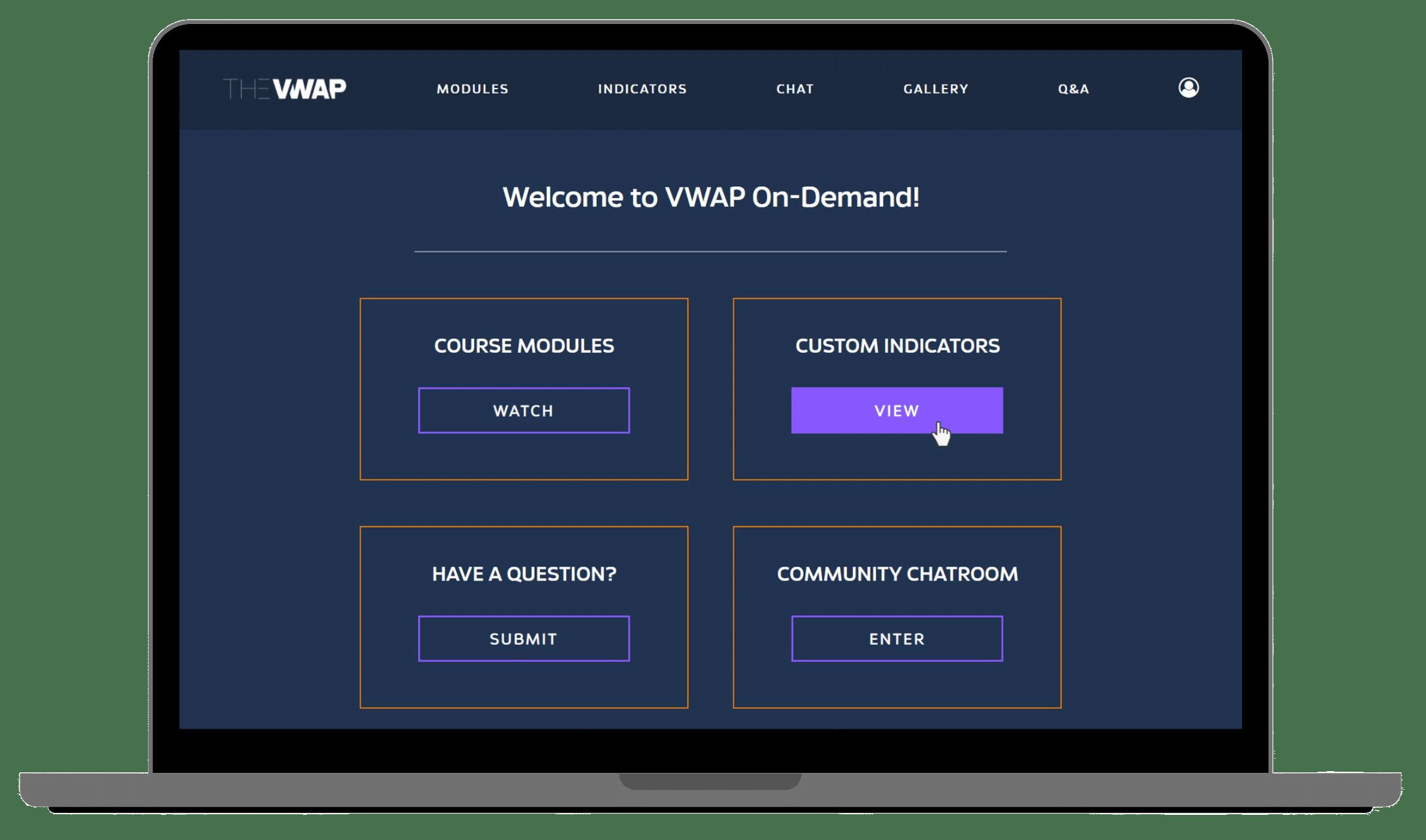 VWAP portal homepage